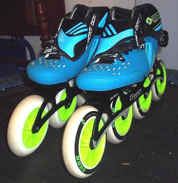 Inlineskating-Artikel Bont Jet Inline Skates Pilot Striker All Wheel Drive-Atom Wheels Size 5