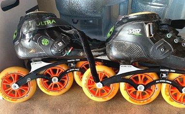 Pilot Striker All Wheel Drive-Atom Wheels Size 5 Inline-Skates Bont Jet Inline Skates