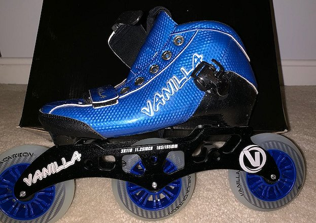 Vanilla_Carbon_Blue_Size_6_Inline_Speed_Skate_$150