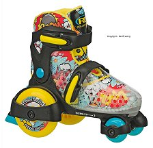 Fun Roll Adjustable Blue Yellow Skate