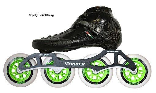 Strut Black 4x105 Inline Speed Skate