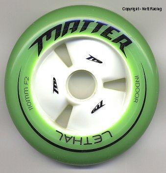 Matter Lethal Green Inline Speed Skate Wheels