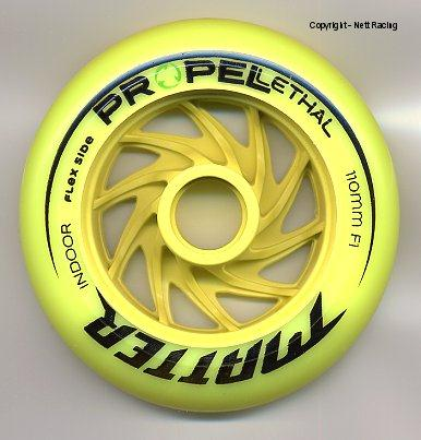 Matter Lethal Propel Yellow Indoor Wheels