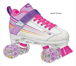 Pacer Comet Light Up Skate White