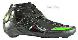 2017 Luigino Strut Black Inline Speed Skate Boot