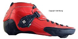 2018 Luigino Strut Red Inline Speed Skate Boot