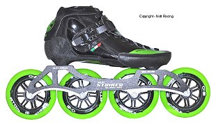 2017 Luigino Strut Black Striker Inline Speed Skate