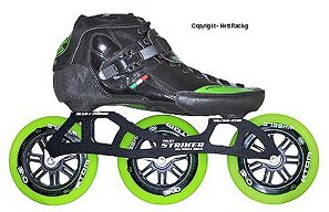 2017 Luigino Strut Kids Striker Black Inline Speed Skate