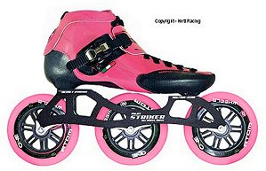 2017 Luigino Strut Kids Striker Pink Inline Speed Skate