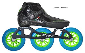 2017 Luigino Strut Black 3 Wheel Indoor Inline Speed Skate