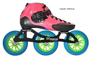 2017 Luigino Strut Pink 3 Wheel Indoor Inline Speed Skate