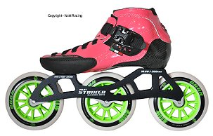 2017 Luigino Strut Pink 3 Wheel Outdoor Inline Speed Skate