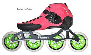 2017 Luigino Strut Pink 4 Wheel Outdoor Inline Speed Skate