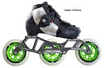 2018 Luigino Kids Challenge Adjustable Black 4x90 3x110 Inline Speed Skate
