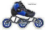 2018 Luigino Kids Challenge Adjustable Blue 4x90 3x110 Inline Speed Skate