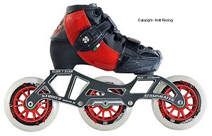 2018 Luigino Kids Challenge Red Mark II Adjustable Inline Speed Skate