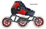 2018 Luigino Kids Challenge Adjustable Red 4x90 3x110 Inline Speed Skate