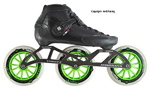 2018 Luigino Strut Black Striker 3x125 Inline Speed Skate