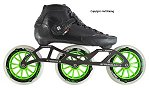 2018 Luigino Strut Black 3 Wheel Inline Speed Skate
