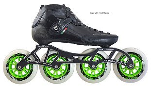 2018 Luigino Strut Black Striker 4x110 Inline Speed Skate