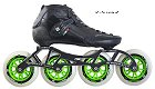 2018 Luigino Strut Black 4 Wheel Inline Speed Skate