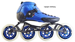 2018 Luigino Strut Blue Striker 4x110 Inline Speed Skate