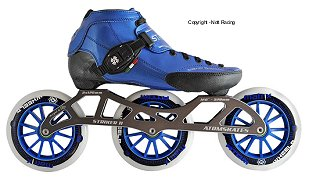 2018 Luigino Strut Blue Striker 3x125 Inline Speed Skate