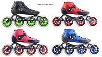 2018 Luigino Strut Black, Red, Pink, Blue Inline Speed Skates.