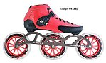 2018 Luigino Strut Pink 3 Wheel Inline Speed Skate