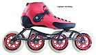 2018 Luigino Strut Pink 4 Wheel Inline Speed Skate