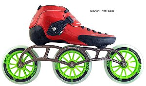 2018 Luigino Strut Red P51 3x125 Inline Speed Skate