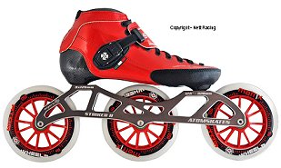 2018 Luigino Strut Red Striker 3x125 Inline Speed Skate