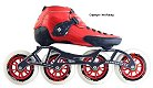 2018 Luigino Strut Red 4 Wheel Inline Speed Skate