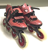 981_Vanilla_Carbon_Red_Size_10_Inline_Speed_Skate_$200